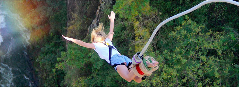 Bungee jump from Victoria Falls Bridge - 111m drop