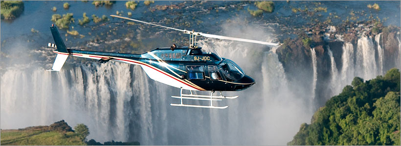 Helicopter flight at Victoria Falls